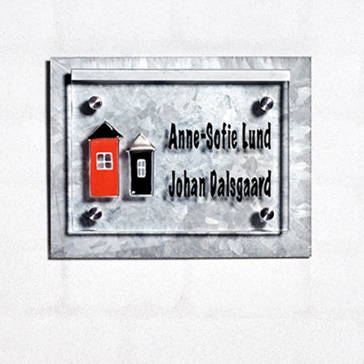 NAVNESKILT 2 HUSE GALVANISERET LED LYS-01
